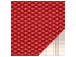Pebbles Paper 12x12 Basic Mini Dot Rouge (25 piece)