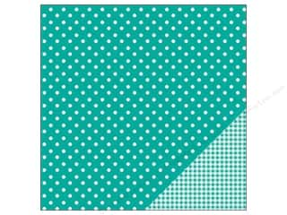 "Pebbles Inc $4 - $12: Pebbles Paper 12""x 12"" Basic Dot Aqua (25 pieces)"