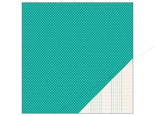 Pebbles Paper 12x12 Basic Mini Dot Aqua (25 piece)