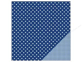 "Pebbles Inc 12 x 12: Pebbles Paper 12""x 12"" Basic Dot Marine (25 pieces)"