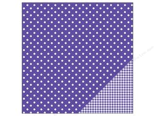 "Pebbles Inc 12 x 12: Pebbles Paper 12""x 12"" Basic Dot Purple (25 pieces)"