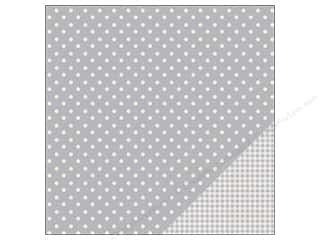 "Pebbles Inc 12 x 12: Pebbles Paper 12""x 12"" Basic Dot Ash (25 pieces)"