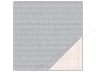 Pebbles Paper 12x12 Basic Mini Dot Ash (25 piece)
