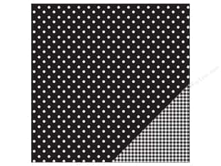 "Pebbles Inc 12"": Pebbles Paper 12""x 12"" Basic Dot Black (25 pieces)"