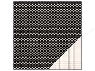 Pebbles Paper 12x12 Basic Mini Dot Black (25 piece)