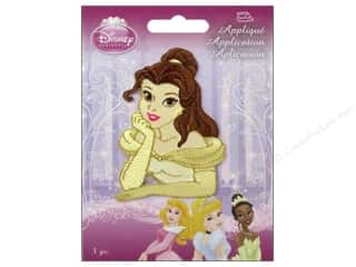 Wrights Embroidered Appliques: Simplicity Disney Iron On Appliques Belle