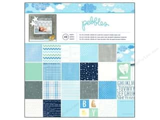 "Brothers Papers: Pebbles Paper Pad Special Delivery Boy 12""x 12"" 48pc"