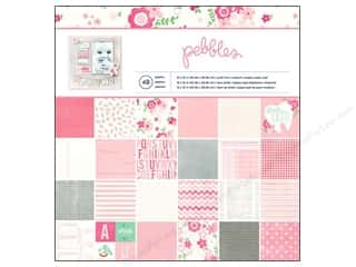 Pebbles Paper Pad Special Delivery Girl 12x12 48pc
