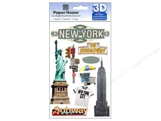 Captions paper dimensions: Paper House Sticker 3D New York City