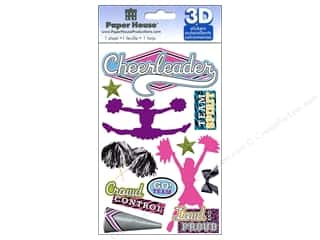 Sports paper dimensions: Paper House Sticker 3D Cheerleader