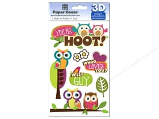 Paper House Sticker 3D You're a Hoot