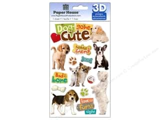 Captions paper dimensions: Paper House Sticker 3D Dog Gone Cute