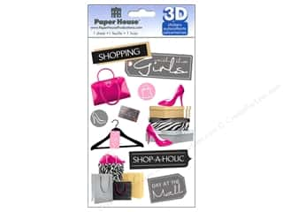 Stickers paper dimensions: Paper House Sticker 3D Shopping Girls