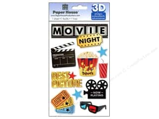 3D Stickers: Paper House Sticker 3D Movie Night