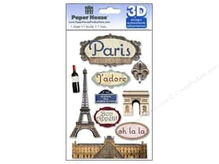 Bottles paper dimensions: Paper House Sticker 3D Paris