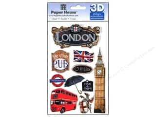 Stickers paper dimensions: Paper House Sticker 3D London