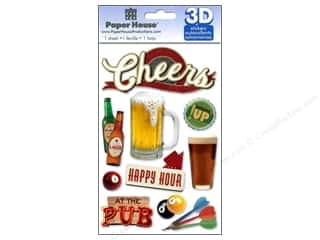 Bottles paper dimensions: Paper House Sticker 3D Cheers