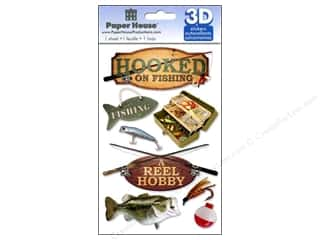 Captions paper dimensions: Paper House Sticker 3D Fishing