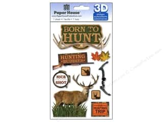 Stickers paper dimensions: Paper House Sticker 3D Born to Hunt