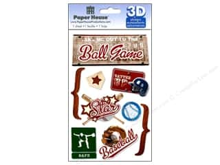 Stickers paper dimensions: Paper House Sticker 3D Baseball