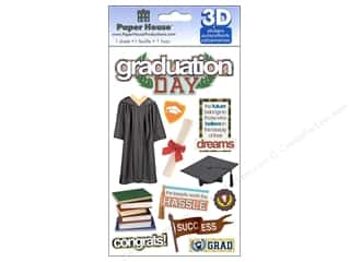 Graduations Black: Paper House Sticker 3D Graduation Day