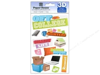 pillow brown: Paper House Sticker 3D Off to College