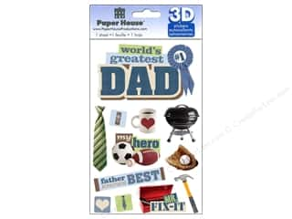 3D Stickers: Paper House Sticker 3D Dad