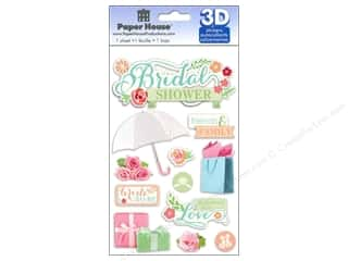 Paper House Sticker 3D Bridal Shower