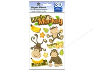 2013 Crafties - Best Adhesive: Paper House Sticker 3D Little Monkey