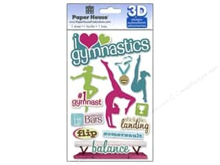 House of White Birches 11 in: Paper House Sticker 3D Gymnastics