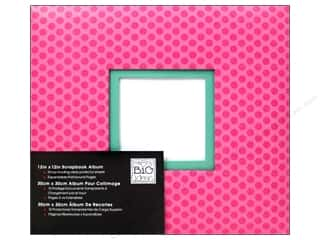MAMBI Scrapbook Album 12x12 Polka Dots Hot Pink