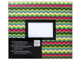 MAMBI Scrapbook Album 12x12 Multi Colored Chevron