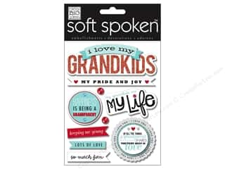 Family paper dimensions: Me&My Big Ideas Sticker Soft Spoken I Love My Grandkids