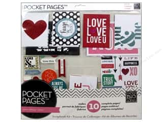 "Love & Romance Projects & Kits: Me&My Big Ideas Page Kit 12""x 12"" Pocket Pages Love Love"