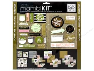 "Scrapbooking Stickers: Me&My Big Ideas Kit Scrapbook 12""x 12"" Gold Rush"