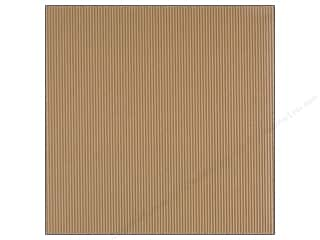 American Crafts 12 x 12 in. Corrugated Cardstock Amy Tangerine Yes Please Treasure Natural