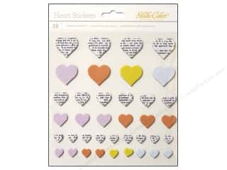 Chipboard Hearts: Studio Calico Stickers Lemonlush Chipboard Heart Newspaper