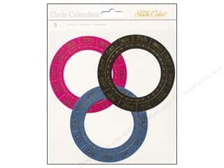 Studio Calico Captions: Studio Calico Embellishments Lemonlush Die Cut Circle Calendar
