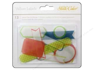 Studio Calico  Lemonlush Die Cut Labels Vellum