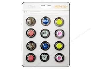 Studio Calico Captions: Studio Calico Embellishments Lemonlush Epoxy Clips Round