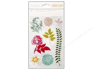 Floral Arranging ABC & 123: Studio Calico Embellishments Lemonlush Rub On Wood Grain/Ferns/Numbers