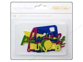 Shape Cuts: Studio Calico Embellishments Lemonlush Die Cut Glitter Shape