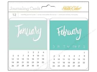 Calendars: Studio Calico Embellishments Wanderlust Journal Card Calendar