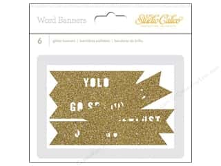 Studio Calico Gold: Studio Calico Embellishments Wanderlust Word Die Cut Banner