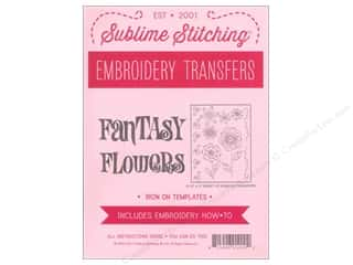 Sublime Stitching Sublime Stitching Woven Label: Sublime Stitching Embroidery Transfers Fantasy Flowers