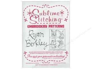 Sublime Stitching Sublime Stitching Embroidery Transfers: Sublime Stitching Embroidery Transfers Ryan Berkely