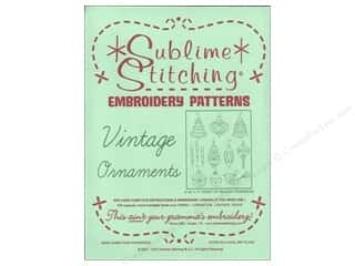 Sublime Stitching Embroidery Transfers Vintage Ornaments
