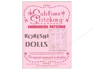 Doll Making Yarn & Needlework: Sublime Stitching Embroidery Transfers Kokeshi Dolls