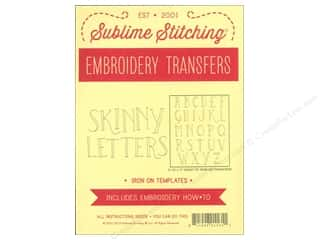 Sublime Stitching Embroidery Transfers Skinny Letters