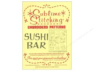 Transfers New: Sublime Stitching Embroidery Transfers Sushi Bar